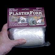 plaster gauze for art shrines - packaged