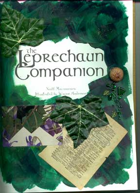 Altered book - Leprechaun Companion