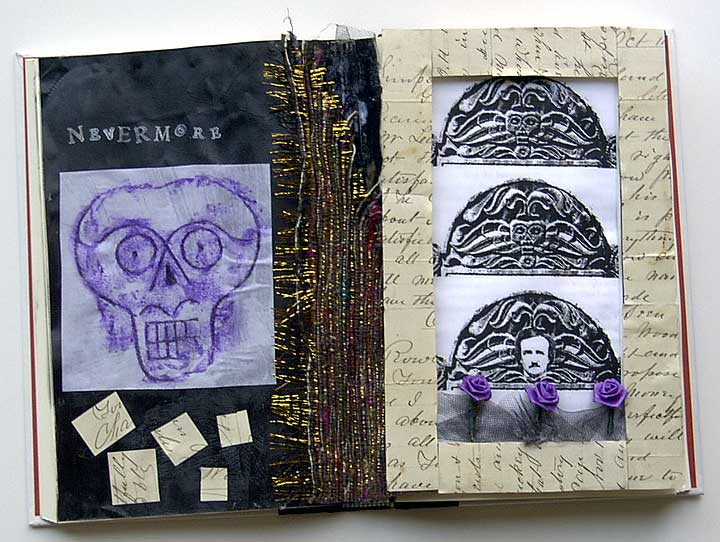 Nevermore - an altered book for Halloween