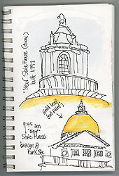 A couple of details of the State House, as I listened to a nearby tour.