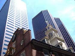 I love the contrasts in downtown Boston!