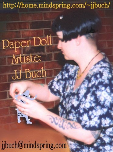 JJ Bush holding a small paper doll (older photo)