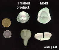 homemade dolls faces using oven-baked clay