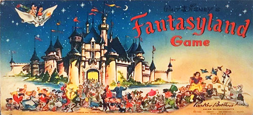 Disney Fantasyland board game 1956 Muriel