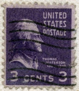 old-fashioned postage stamp