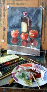 watercolor - still life painting