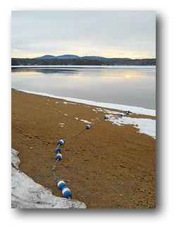 Lake Winnesquam beach