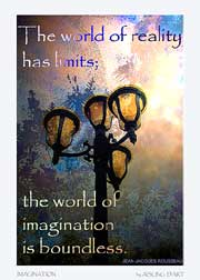 Online picture of a free poster and ATC - Imagination by Aisling D'Art