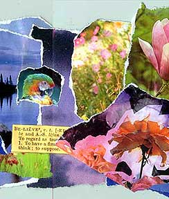 A collage from an art journal