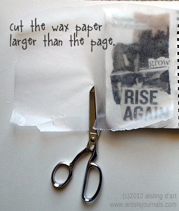 How to cut wax paper for art journaling