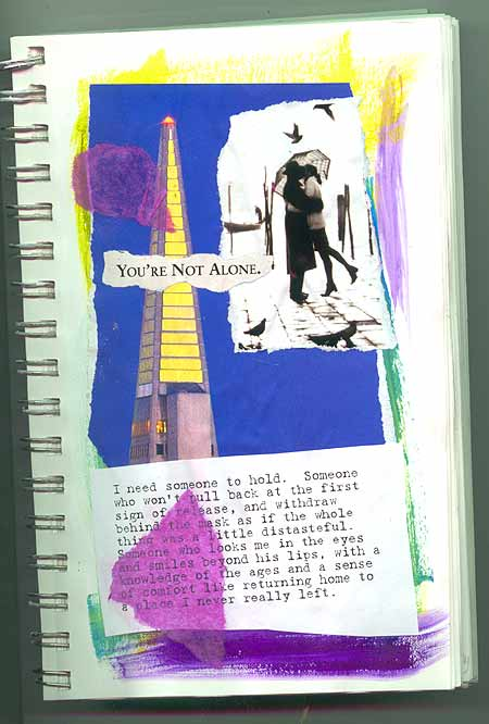 A page from my journal, reminding myself that no one is truly alone.