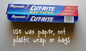 Photo of wax paper.