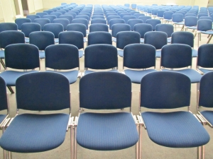 Chairs for audience or students.