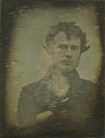 Robert Cornelius, self portrait, ca. 1839. Courtesy Library of Congress.