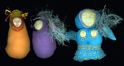 Sock dolls by Lisa Cottrell, OH