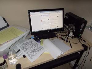 Aisling's computer desk - 20150901