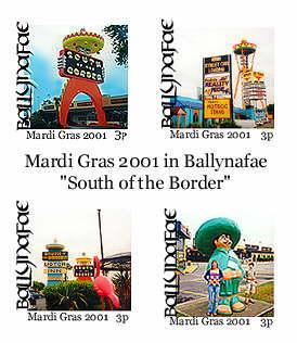 Mardi Gras stamps - Ballynafae