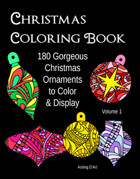 Christmas coloring book ornaments - vol 1