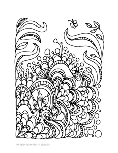garden-y coloring page -- free download