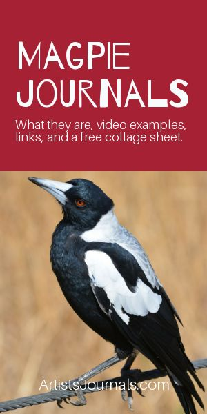 Magpie Journals - videos, how-to, free clipart