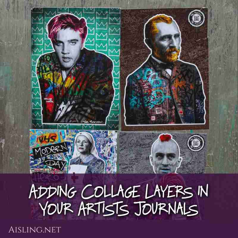 Adding Collage Layers in Your Artists Journals