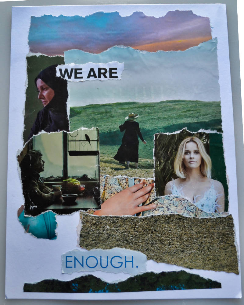 We Are / Enough – Torn Paper Collage