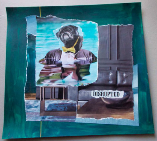 Disrupted – Torn Paper Mixed Media Collage