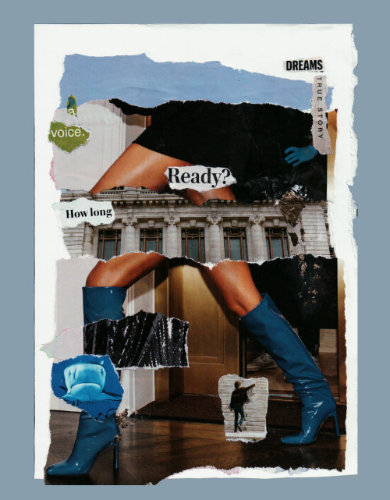 Dreams when we're ready - torn-paper collage